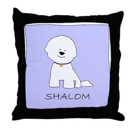 Bichon Frise Shalom Throw Pillow
