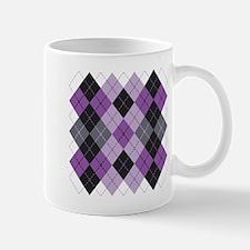 Purple Argyle Design Mug