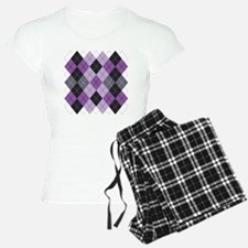 Purple Argyle Design Pajamas