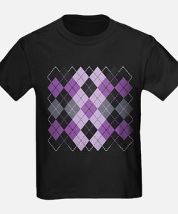 Purple Argyle Design T-Shirt