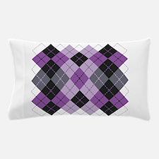 Purple Argyle Design Pillow Case
