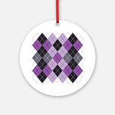 Purple Argyle Design Ornament (Round)