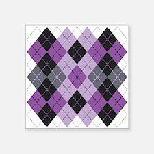 Purple Argyle Design Sticker