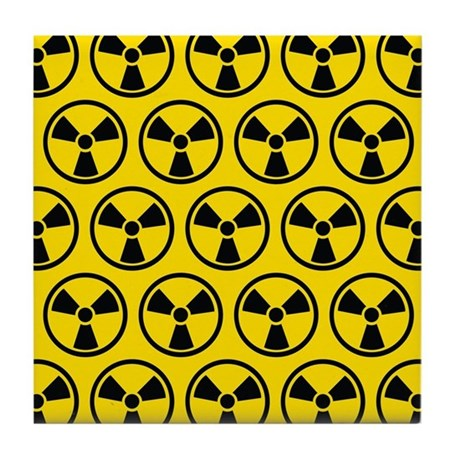 Radioactive pattern tile coaster by oddmatterhome - Radioactive coasters ...