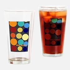 Cute Bright Polka Dots Drinking Glass