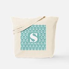 Nautical Letter S Monogram Tote Bag