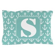 Nautical Letter S Monogram Pillow Case