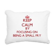 Being A Small Fry Rectangular Canvas Pillow