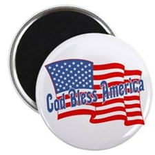 "GOD BLESS AMERICA July 4th 2.25"" Magnet (10 pack)"