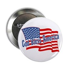 GOD BLESS AMERICA July 4th Button
