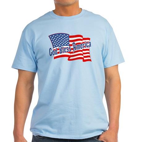 GOD BLESS AMERICA July 4th Light T-Shirt