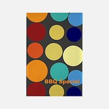 Cute Bright Polka Dots Rectangle Magnet