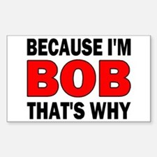 I'M BOB Rectangle Decal
