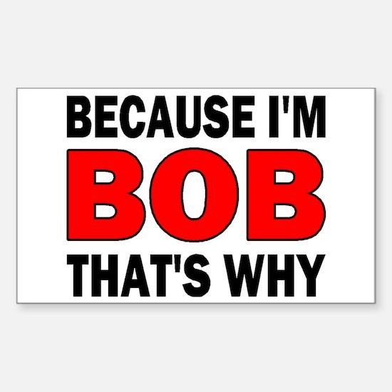 I'M BOB Rectangle Decal