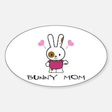 Cute Rabbit art Sticker (Oval)