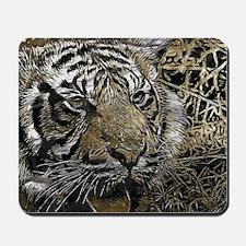 metal art tiger Mousepad