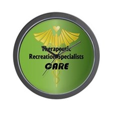 Therapeutic Recreation Specialists Care Wall Clock