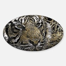 metal art tiger Decal