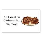 Christmas Waffles Sticker (Rectangle 50 pk)