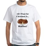 Christmas Waffles White T-Shirt