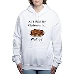 Christmas Waffles Women's Hooded Sweatshirt