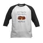 Christmas Waffles Kids Baseball Jersey