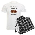 Christmas Waffles Men's Light Pajamas