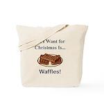 Christmas Waffles Tote Bag