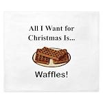 Christmas Waffles King Duvet