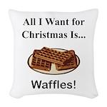Christmas Waffles Woven Throw Pillow