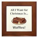 Christmas Waffles Framed Tile