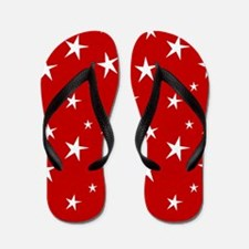 Red with stars Flip Flops