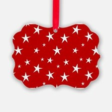 Red with stars Ornament