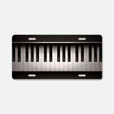 Piano Aluminum License Plate