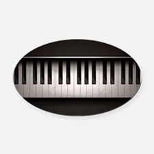 Piano Oval Car Magnet