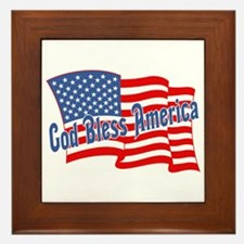 GOD BLESS AMERICA July 4th Framed Tile