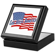 GOD BLESS AMERICA July 4th Keepsake Box