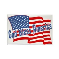 GOD BLESS AMERICA July 4th Rectangle Magnet