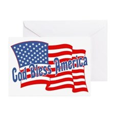 GOD BLESS AMERICA July 4th Greeting Cards (Package