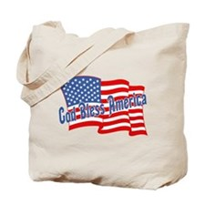GOD BLESS AMERICA July 4th Tote Bag