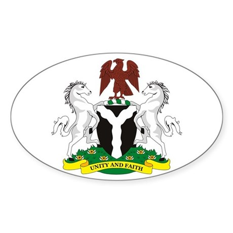 Nigeria Coat of Arms Oval Sticker