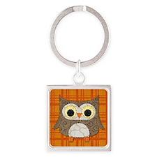 Fabric Owl Keychains