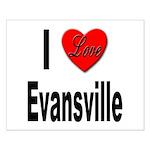 I Love Evansville Small Poster