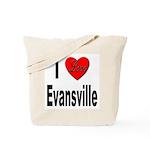 I Love Evansville Tote Bag