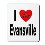 I Love Evansville Mousepad