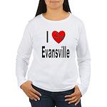 I Love Evansville (Front) Women's Long Sleeve T-Sh