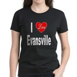 I Love Evansville (Front) Women's Dark T-Shirt