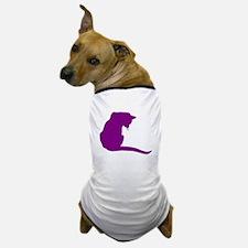 Purple Cat Dog T-Shirt