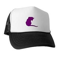 Purple Cat Trucker Hat