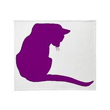 Purple Cat Throw Blanket
